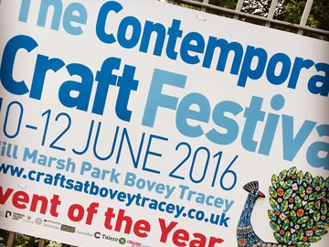 The Contemporary Craft Festival, Bovey Tracey 2016