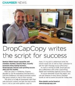DropCapCopy in Profile magazine