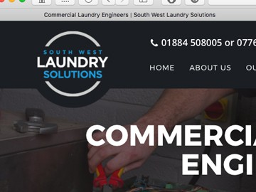 South West Laundry Solutions: Website & SEO content