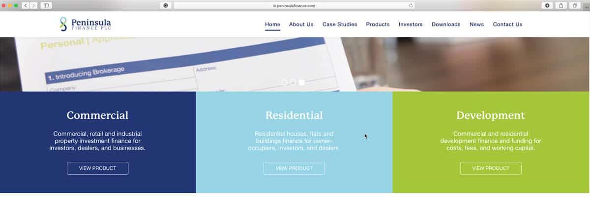 DropCapCopy Copywriting Peninsula Finance Home Page