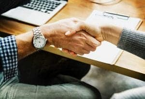 Handshake with a new client
