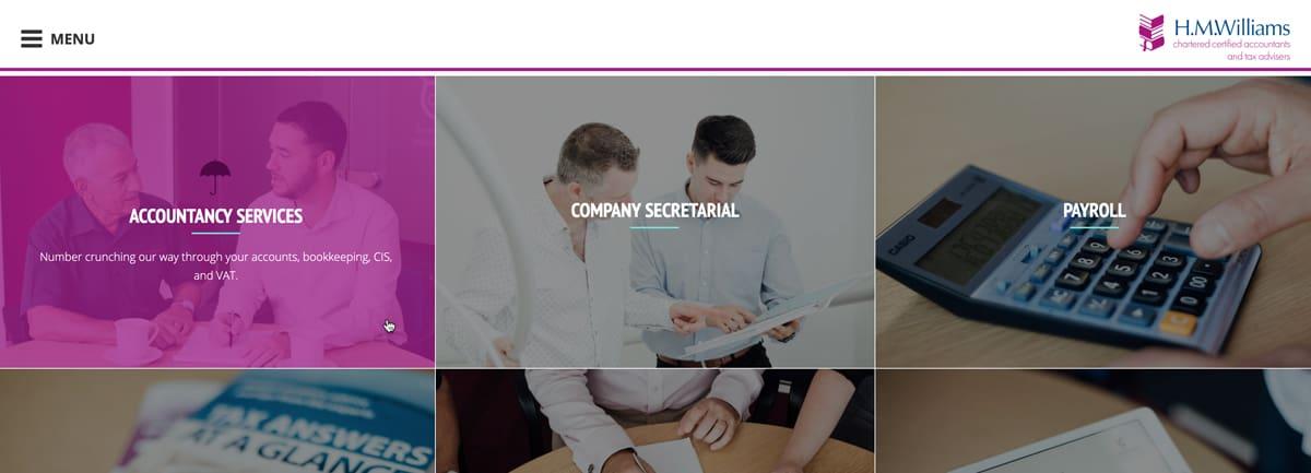 HMWilliams Services page