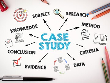 Images showing how a case study works