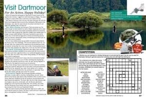 Double page spread of Visit Dartmoor editorial
