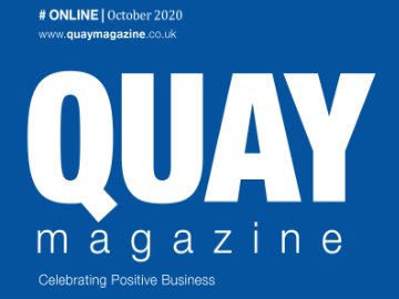 CLose up of Quay Magazine front cover